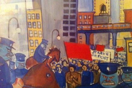 Hans Scherfig: 1. maj-demonstration New York(1929)