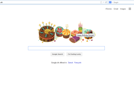 Fødselsdagshilsen på google.dk! (Hehe…snedigt…)