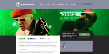 Lyt til fire numre fra The Damned koncerten iPumpehuset