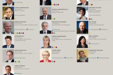 Den nye EU kommission sominfografik