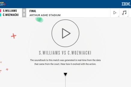 Lyt til US Open finalen mellem Serena Williams og Caroline Wozniacki som elektroniskmusik