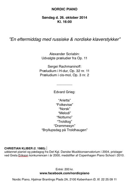 Klaverkoncert hos NordicPiano