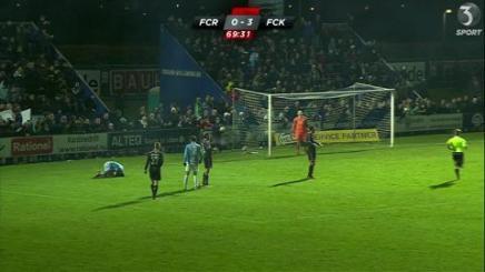 Se højdepunkterne fra den spændende fodboldkamp mellem Roskilde ogKøbenhavn