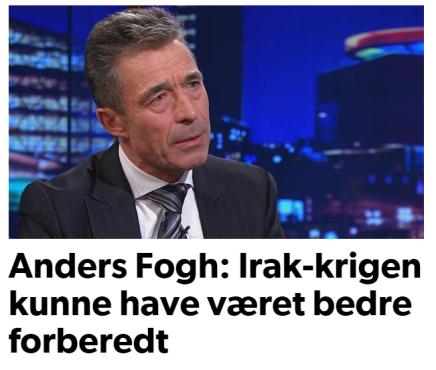 Anders Fogh: Irak-krigen kunne have været bedreforberedt