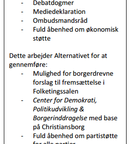 Alternativets Demokratipakke