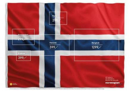Genial reklame for Norwegian