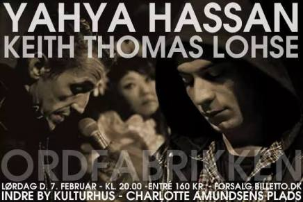 Yahya Hassan og Keith Thomas Lohse mødes i Indre ByKulturhus
