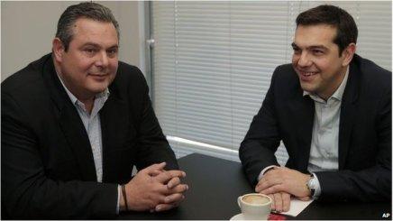 Syriza danner koalitionsregering medANEL