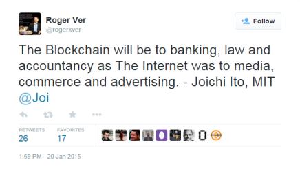Blokkæden bliver for banker, advokater og revisorer hvad Internet blev for handel, medier ogreklame