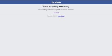 Facebook er nede