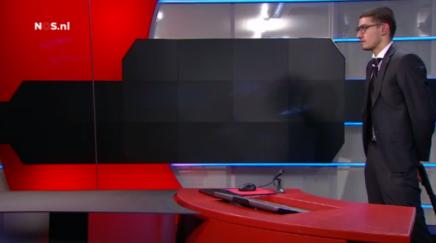 Bevæbnet mand kræver taletid på direkte hollandsk fjernsyn[video]