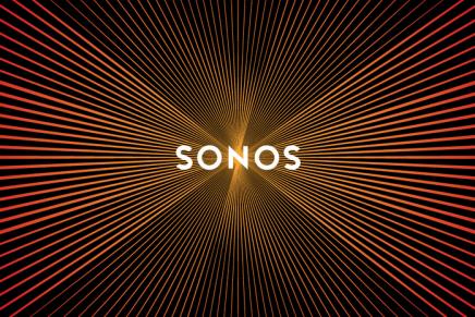 Det nye Sonos logo vibrerer som en subwoofer når duscroller
