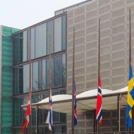 Der flages på halvt i Berlin idag