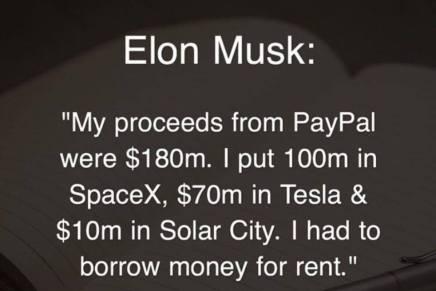 Efter salget af PayPal måtte Elon Musk låne penge tilhusleje