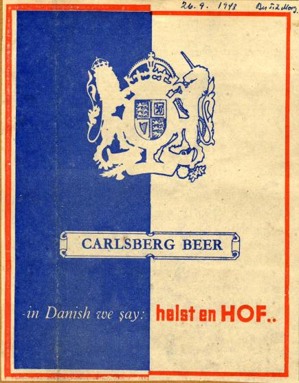 Carlsberg reklame fra1948