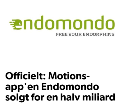 Motions-app'en Endomondo solgt for over en halv miliard kroner