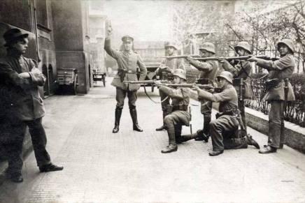 Umiddelbart før henrettelsen af en kommunist, Tyskland1919