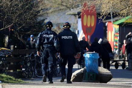 Politiaktion på Christiania