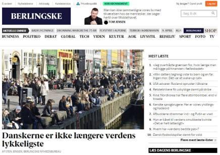Danskere om tredjeplads: Vi er stadig ligelykkelige