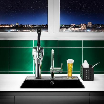 2,000 lejligheder i København får fadølsanlæg i køkkenet med direkte forbindelse tilCarlsberg