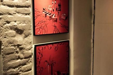 Ny kunst på K- Bar tegnet og malet af PoulJupont