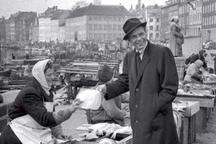 Frank Sinatra ved Gammel Strand i1956