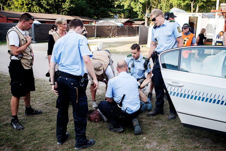 Anholdelse på Roskilde Festival