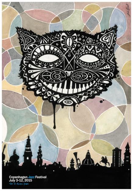 Årets jazzfestivalplakat er skabt af JulieNord