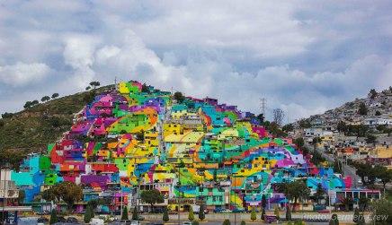 Street art kunstnere bekæmper vold med…maling!