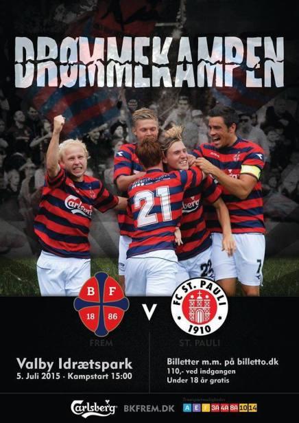 Drømmekamp mellem BK Frem og FC St. Pauli i Valby Idrætspark idag