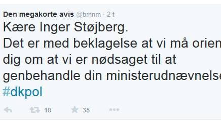 Kære Inger Støjberg