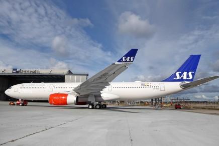 SAS har fået en ny flyvemaskine for første gang i over 10år