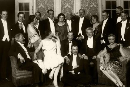Carl Nielsen sammen med Igor Stravinsky påNimb