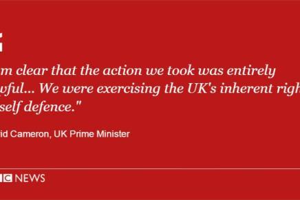 Britisk, konservativ logik: David Cameron drone bomber Syrien og tager derefter imod 12 syriske flygtninge omdagen
