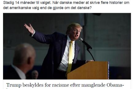 Danske medier skriver mere om det amerikanske valg end det danske (og europæiske)valg