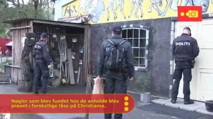 Politiaktion på Christiania: Mange christianitteranholdt