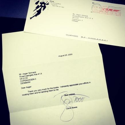 Dengang Asger Schnack fik brev fra DavidBowie
