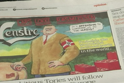 Politikere kan ikke se komikken i britiskesatiretegninger