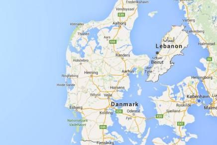 Et billede af Danmark ogLibanon