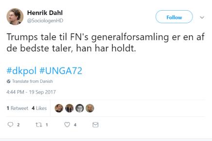 Uhyggelig dansk opbakning til TrumpsFN-tale