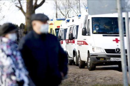 Flest nye COVID-19 tilfælde iRusland